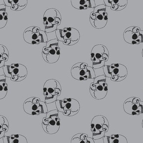 Skull-pattern1-ch. Grey/gray