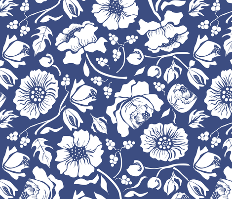 Summer Blues fabric by mag-o on Spoonflower - custom fabric