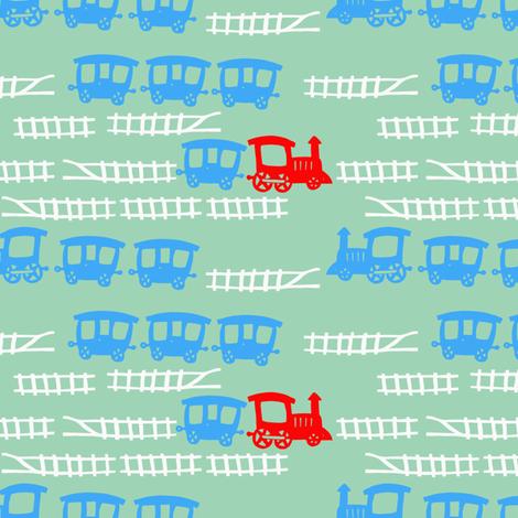 Little-Red-Engine fabric by madamsalami on Spoonflower - custom fabric