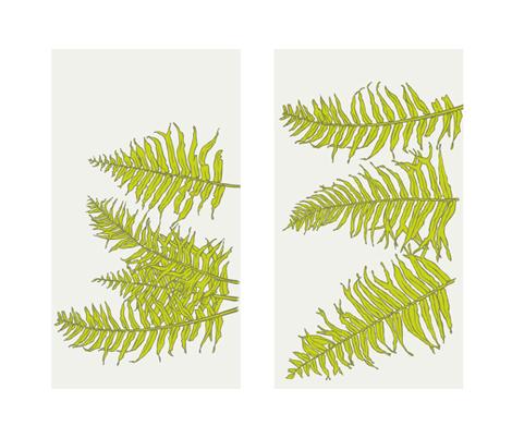Ferns_Chartruese_Fabric_TWO fabric by brownwilliam_llc on Spoonflower - custom fabric