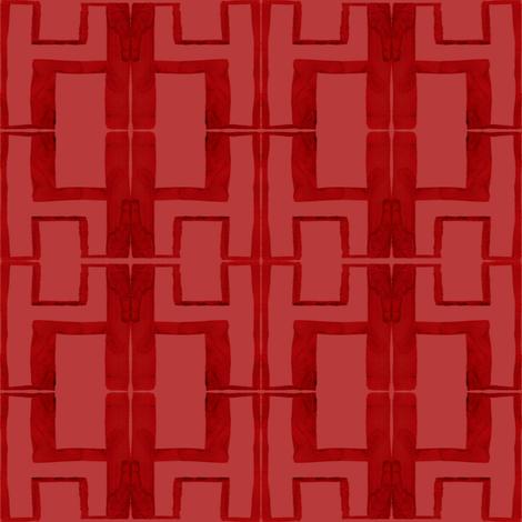 cestlaviv_h2inch red fabric by cest_la_viv on Spoonflower - custom fabric