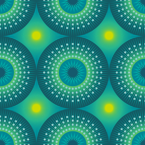 Mid Century Sunbursts Cocktail Dress fabric by veritymaddox on Spoonflower - custom fabric