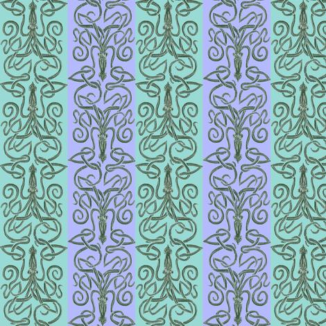 Minoan, Mycenaean; Cephalopod, Squid fabric by wren_leyland on Spoonflower - custom fabric