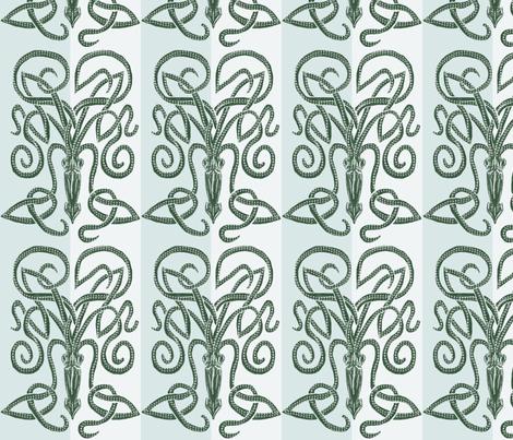 The Minoan Kraken Blues fabric by wren_leyland on Spoonflower - custom fabric
