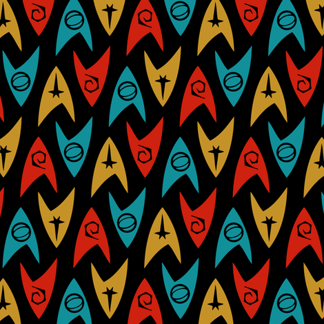 Star Trek TOS Insignias (4-color) fabric by meglish on Spoonflower - custom fabric