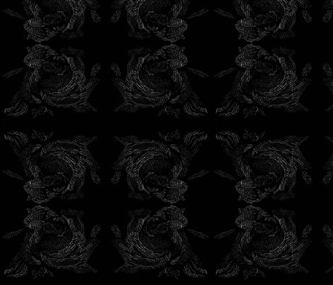 black_rose_embossed fabric by mandybeau on Spoonflower - custom fabric