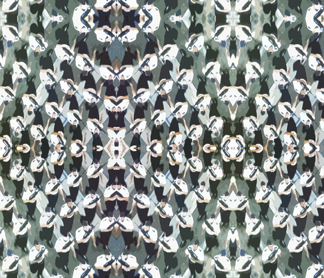 Soldiers on Parade Resembling Cowry Shells fabric by susaninparis on Spoonflower - custom fabric