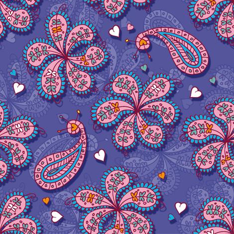 Paisley and flowers fabric by leventetladiscorde on Spoonflower - custom fabric