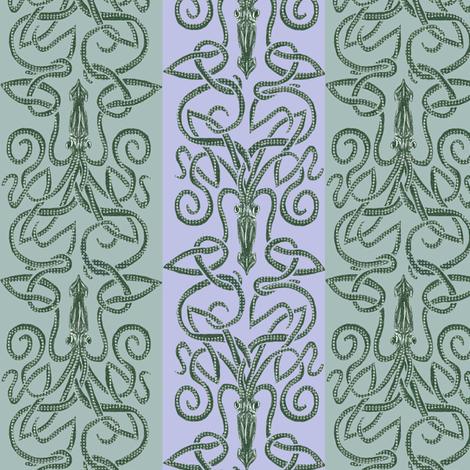 Kraken in the Pale Moonlight fabric by wren_leyland on Spoonflower - custom fabric