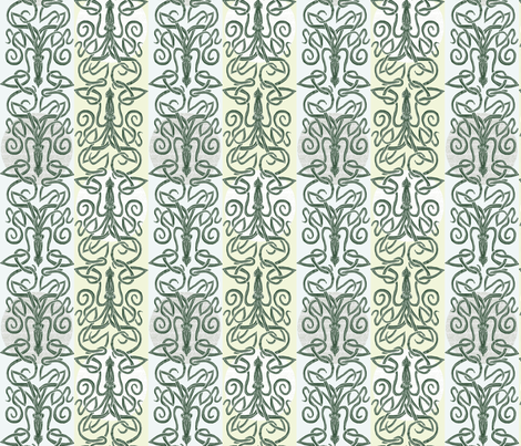 Minoan Kraken and Mycenaean Squid  fabric by wren_leyland on Spoonflower - custom fabric