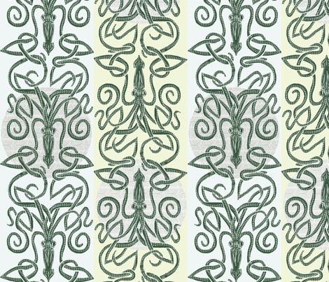 Kraken Moon fabric by wren_leyland on Spoonflower - custom fabric