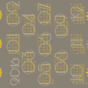 2016 Art Deco calendar
