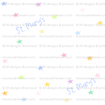 Rainbow Pastel Stars - Test Sample St. Mary's -  Diag 2 - © PinkSodaPop 4ComputerHeaven.com