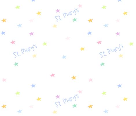 Rainbow Pastel Stars - Test Sample St. Mary's -  Diag 2 - © PinkSodaPop 4ComputerHeaven.com fabric by pinksodapop on Spoonflower - custom fabric
