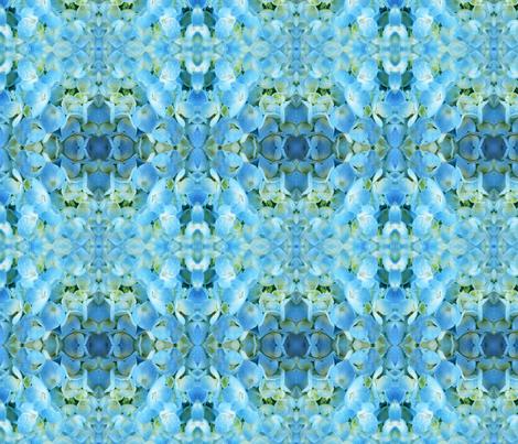 Light Blue Hydrangea fabric by falcon11 on Spoonflower - custom fabric