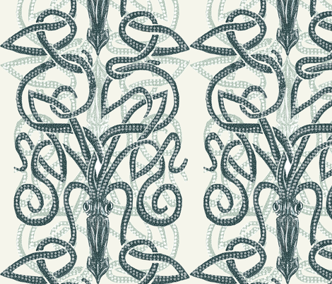 Giant Squid- Pair o' Kraken fabric by wren_leyland on Spoonflower - custom fabric