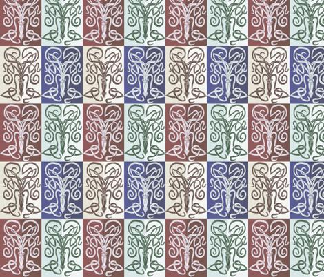 Foursquare Squid  fabric by wren_leyland on Spoonflower - custom fabric