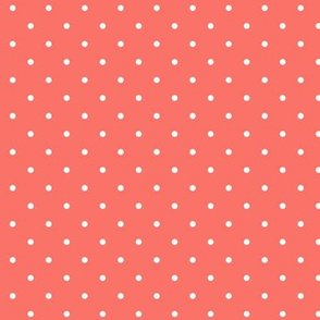 Polka dot - living coral