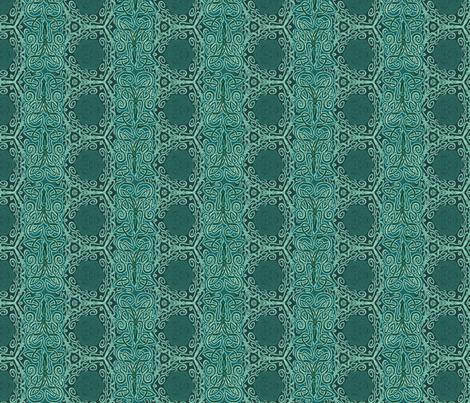 Teal Sea Squid Kraken fabric by wren_leyland on Spoonflower - custom fabric