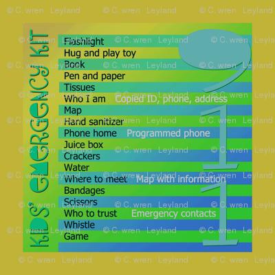 Kids' Emergency Bag
