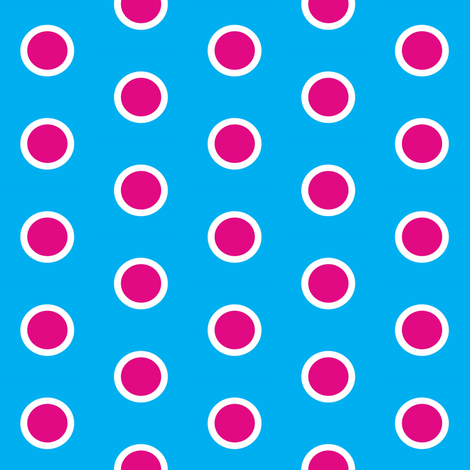 Candy Hail in a Blue Sky Polka fabric by smuk on Spoonflower - custom fabric