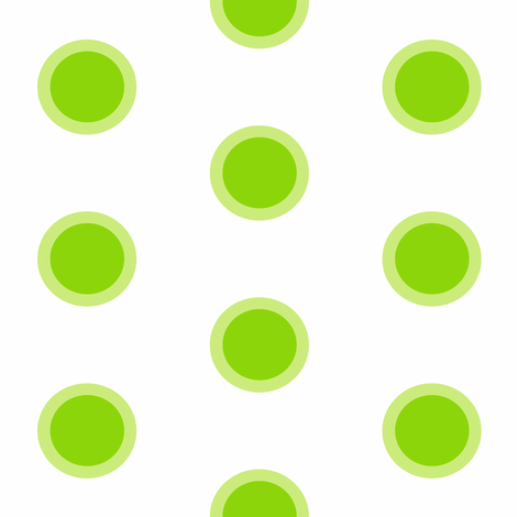 Lime bubbles Milkshake Polka fabric by smuk on Spoonflower - custom fabric
