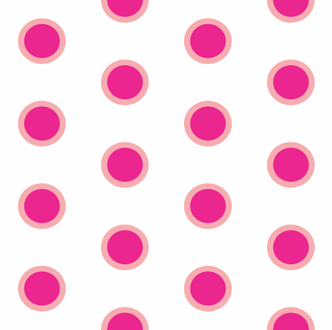 Candy Bubble Milkshake Polka fabric by smuk on Spoonflower - custom fabric