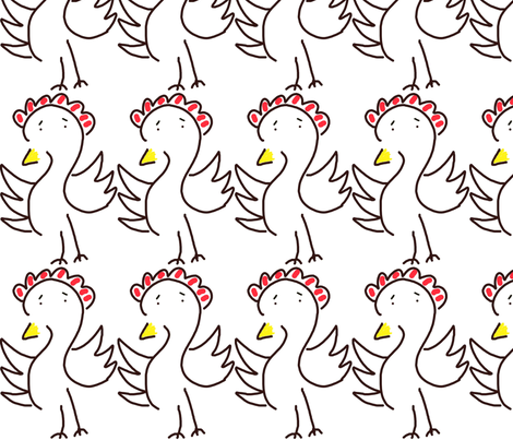 Scrambled Chicken fabric by anniedeb on Spoonflower - custom fabric