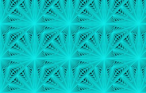 Aqua Agua fabric by feebeedee on Spoonflower - custom fabric