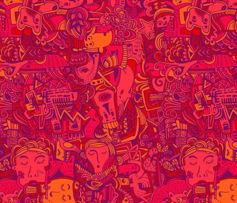 punainen fabric by ruusulampi on Spoonflower - custom fabric