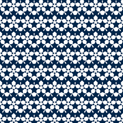 Starflower Navy fabric by courtandspark on Spoonflower - custom fabric