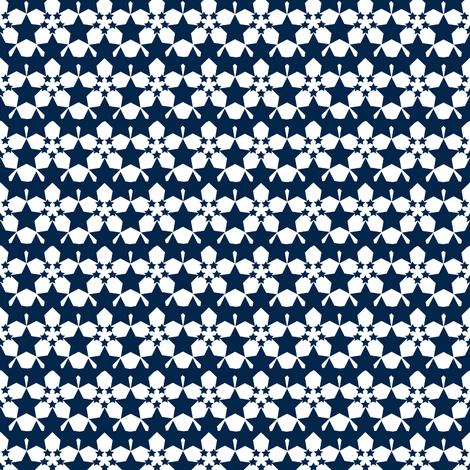 Starflower Navy fabric by courtandspark on Spoonflower - custom fabric