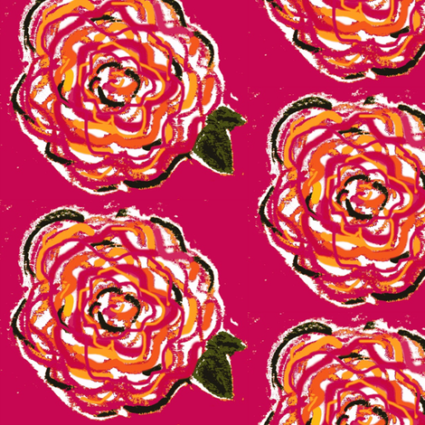 fifties flowers fabric by lolo23 on Spoonflower - custom fabric