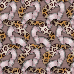 Leopards 'n' Lace - Meandering - Pink