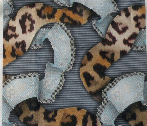 Leopards 'n' Lace - Meandering - Blue