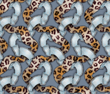Leopards 'n' Lace - Meandering - Blue fabric by bonnie_phantasm on Spoonflower - custom fabric