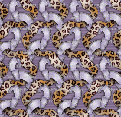 Leopards 'n' Lace - Meandering - Purple
