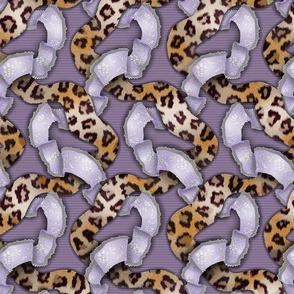 Leopards 'n' Lace - Meandering - Purple