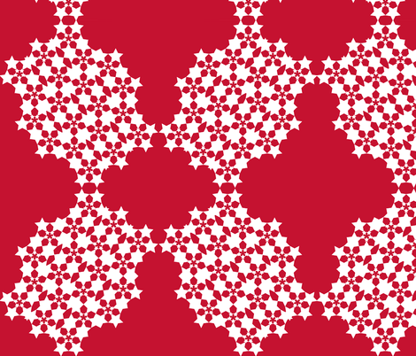 Starflower Doily Ruby fabric by courtandspark on Spoonflower - custom fabric