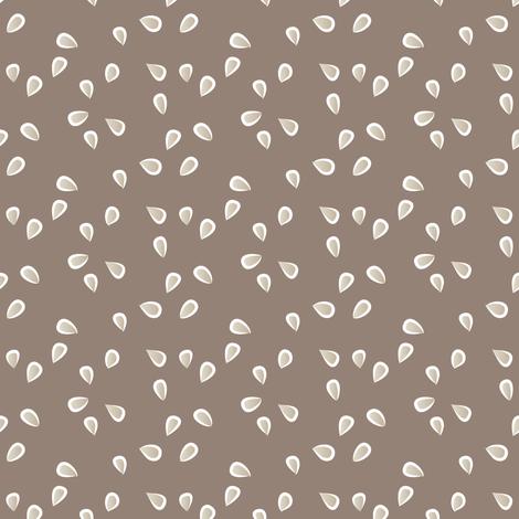 little petals - earth fabric by fox&lark on Spoonflower - custom fabric
