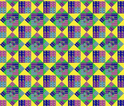 Buncha_Lilies_3 fabric by oceanpeg on Spoonflower - custom fabric