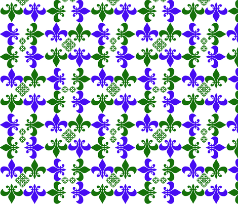 Fleur De Li fabric by scifiwritir on Spoonflower - custom fabric
