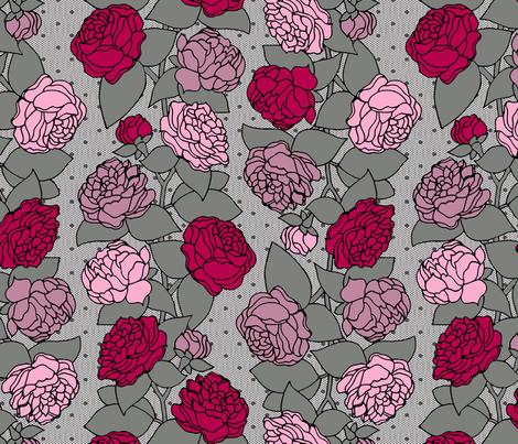 BEAU_FLEUR_STRIPE_rose fabric by glorydaze on Spoonflower - custom fabric