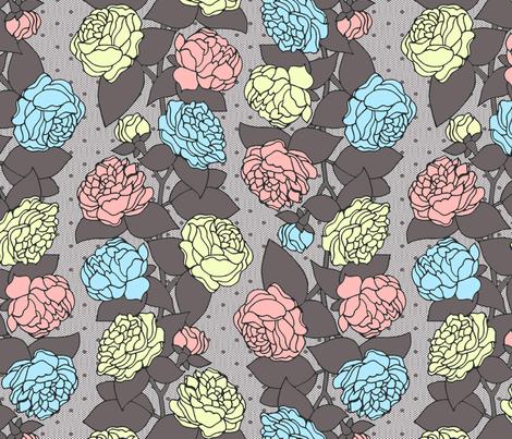 BEAU_FLEUR_STRIPE_pastel fabric by glorydaze on Spoonflower - custom fabric