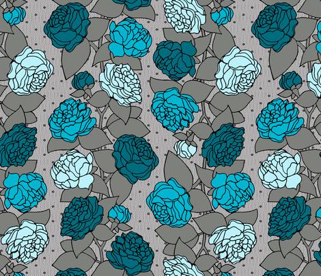 BEAU_FLEUR_STRIPE_bleu fabric by glorydaze on Spoonflower - custom fabric