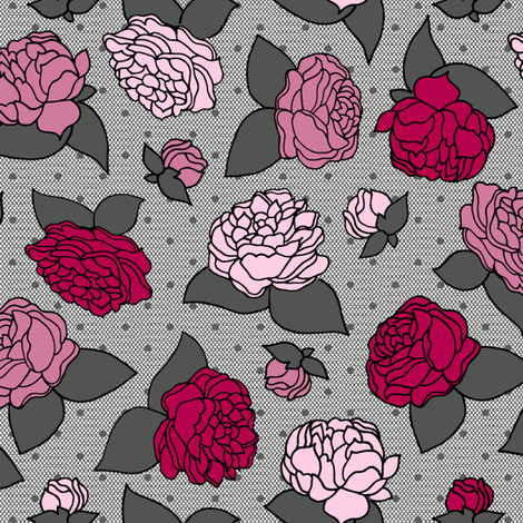 BEAU_FLEUR_rose fabric by glorydaze on Spoonflower - custom fabric