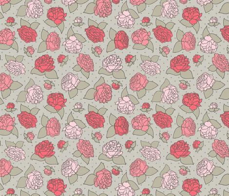 BEAU_FLEUR_sauman fabric by glorydaze on Spoonflower - custom fabric