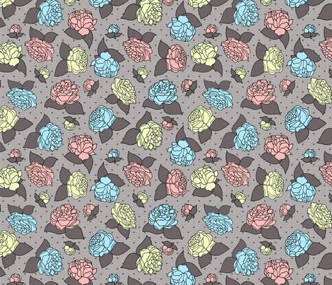 BEAU_FLEUR_pastel fabric by glorydaze on Spoonflower - custom fabric