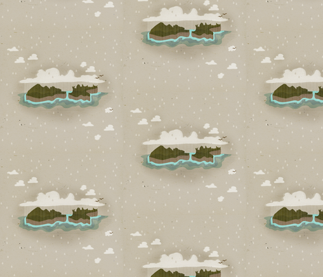 Aotearoa Winter fabric by spoonnan on Spoonflower - custom fabric
