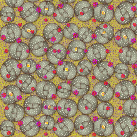 stone_blossoms fabric by glimmericks on Spoonflower - custom fabric